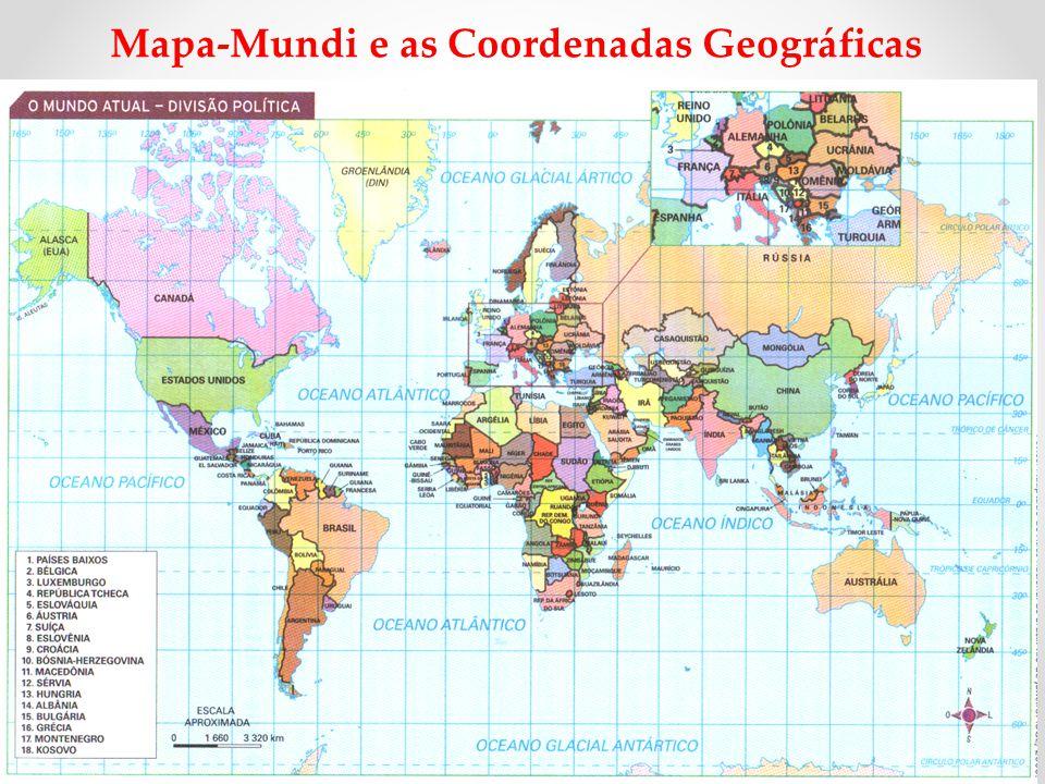 Mapa-Mundi e as Coordenadas Geográficas