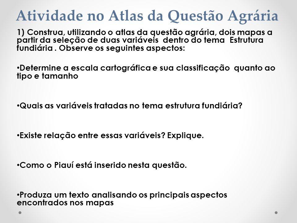 Atividade no Atlas da Questão Agrária