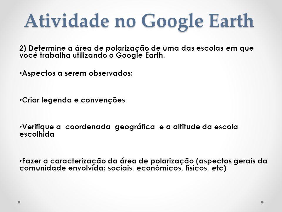 Atividade no Google Earth