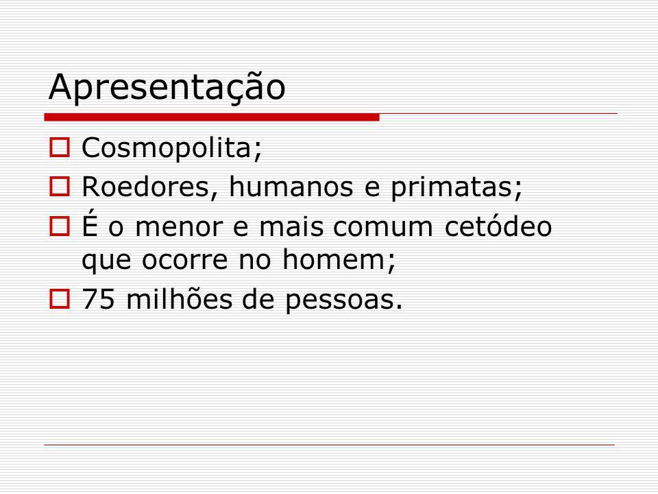 Apresentação Cosmopolita; Roedores, humanos e primatas;