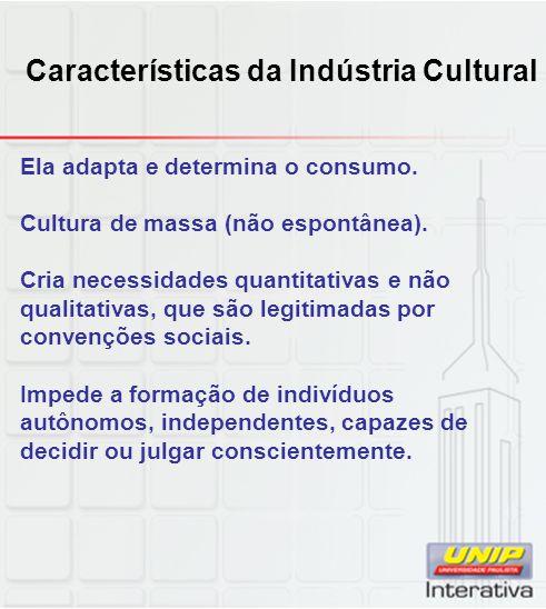 Características da Indústria Cultural