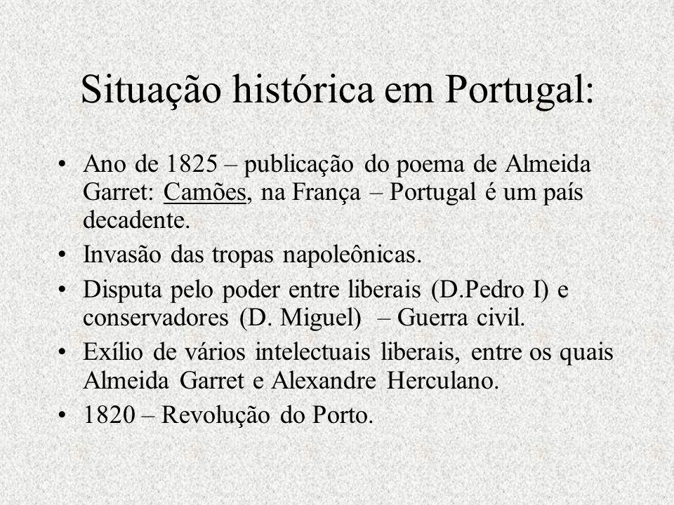 Situação histórica em Portugal:
