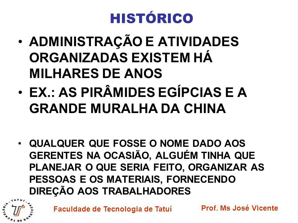 ADMINISTRAÇÃO E ATIVIDADES ORGANIZADAS EXISTEM HÁ MILHARES DE ANOS