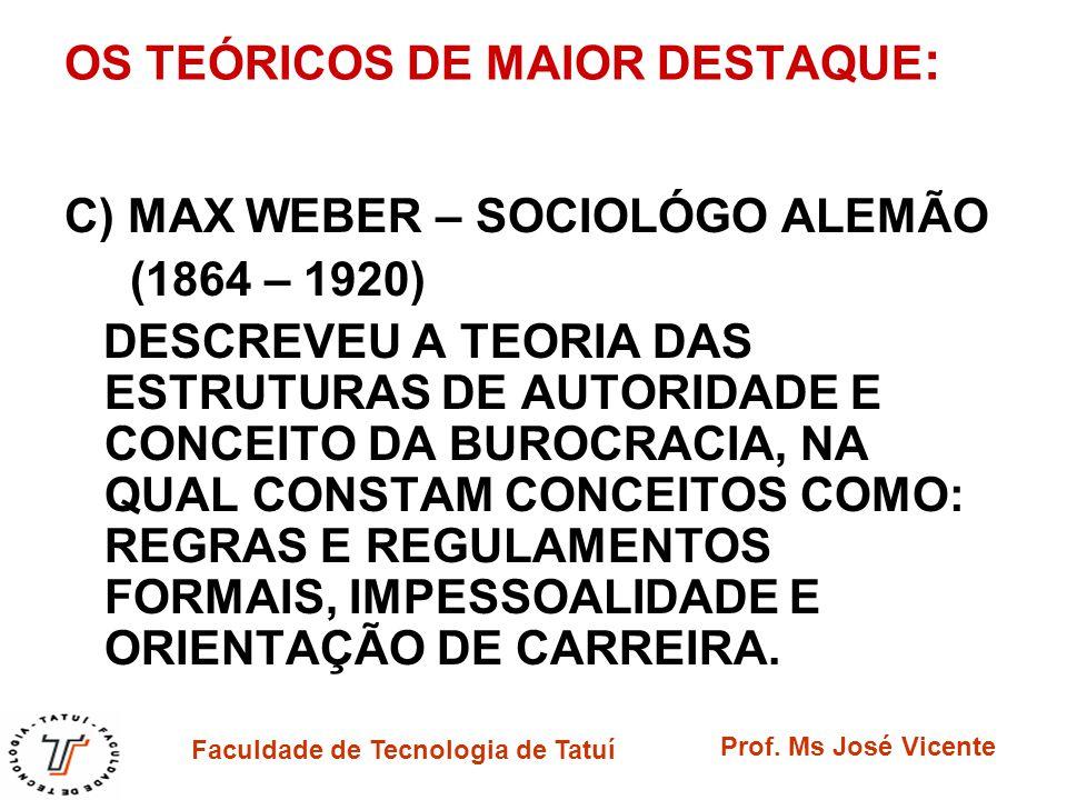 OS TEÓRICOS DE MAIOR DESTAQUE: