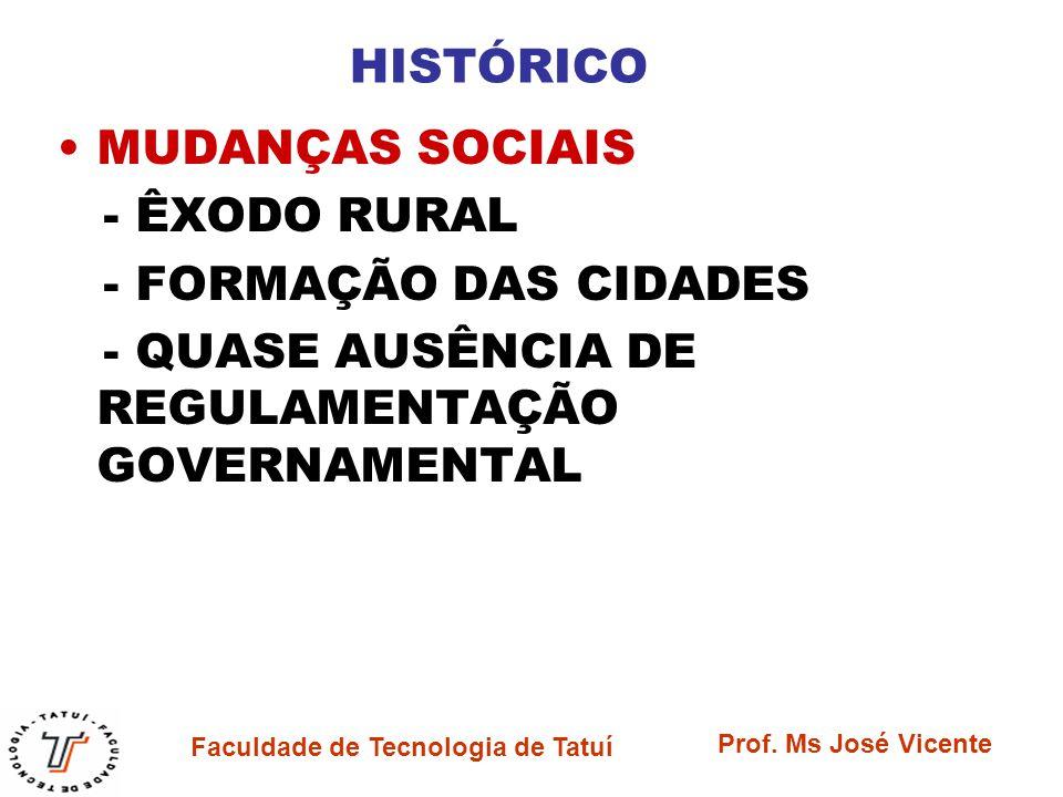HISTÓRICO MUDANÇAS SOCIAIS. - ÊXODO RURAL. - FORMAÇÃO DAS CIDADES.