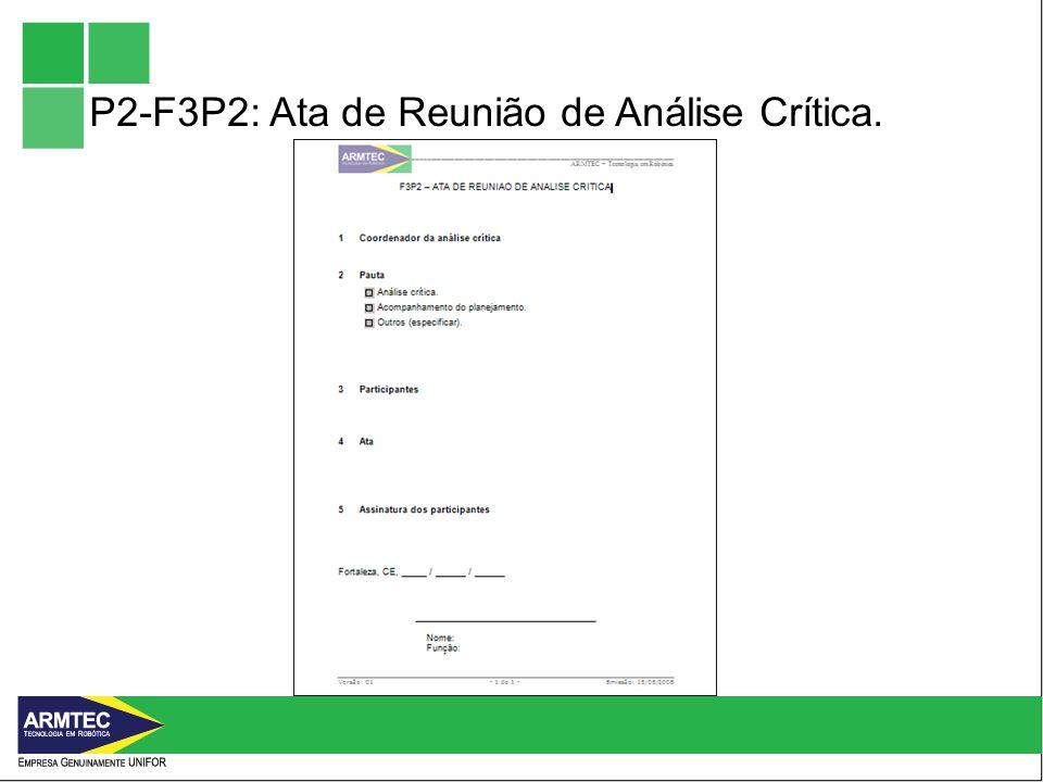 P2-F3P2: Ata de Reunião de Análise Crítica.