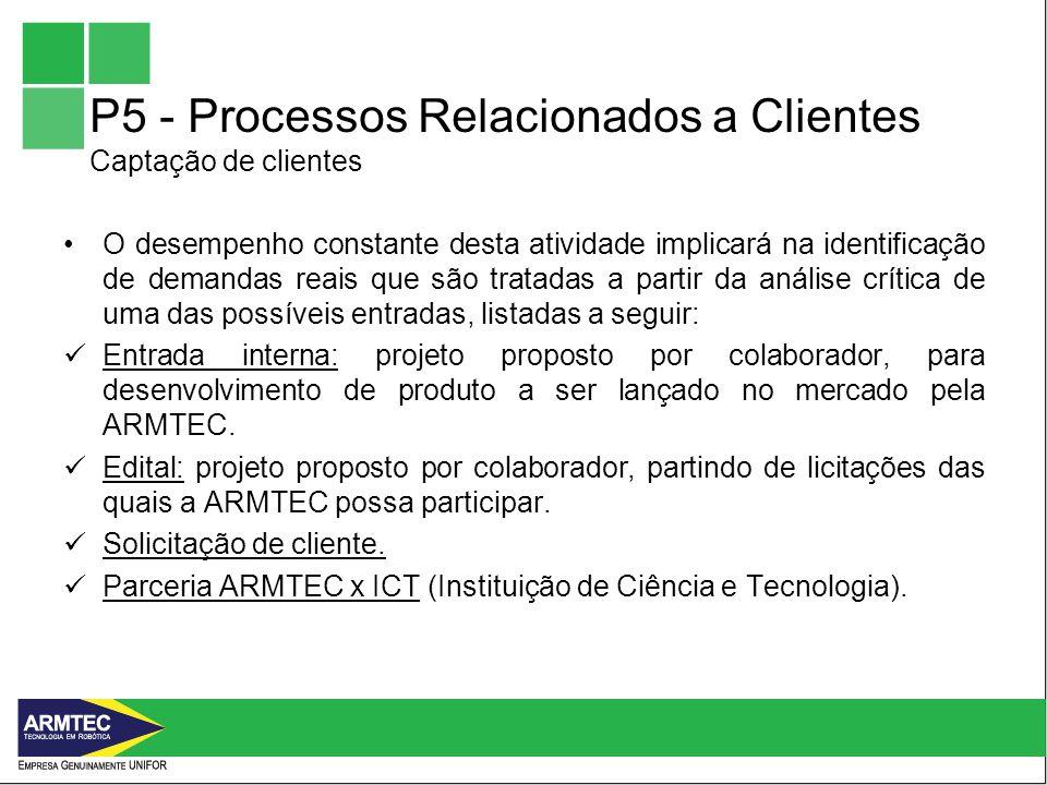 P5 - Processos Relacionados a Clientes