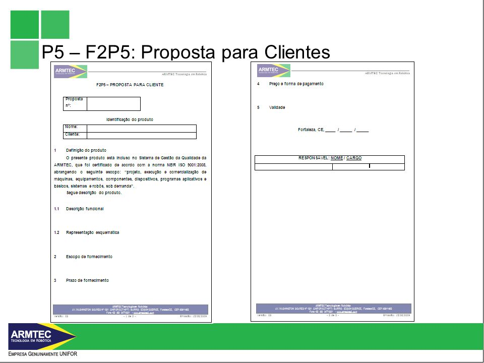 P5 – F2P5: Proposta para Clientes