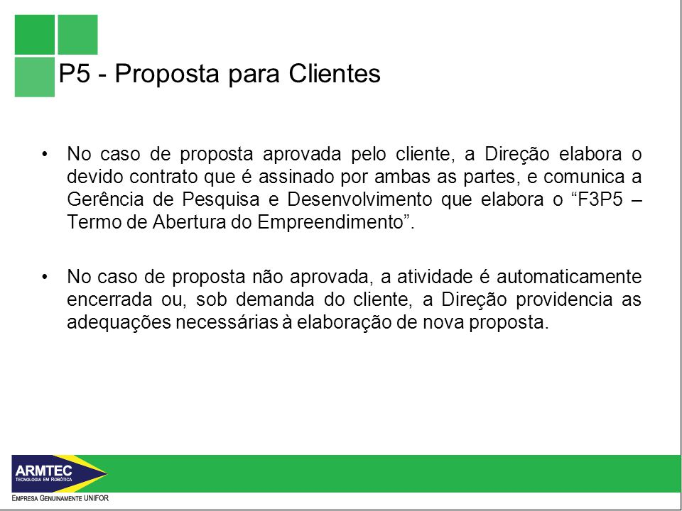 P5 - Proposta para Clientes