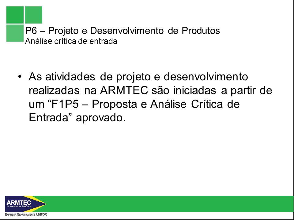 P6 – Projeto e Desenvolvimento de Produtos
