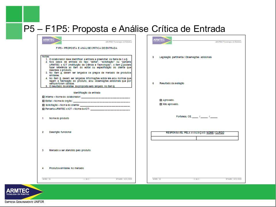 P5 – F1P5: Proposta e Análise Crítica de Entrada