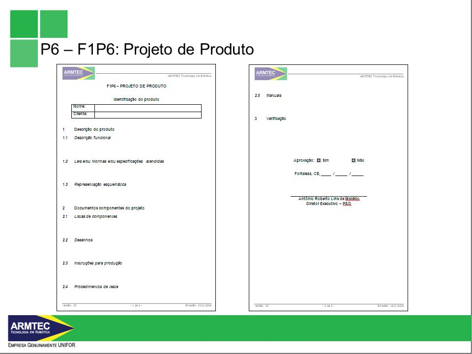 P6 – F1P6: Projeto de Produto
