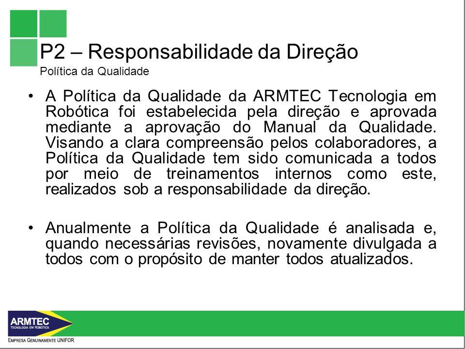 P2 – Responsabilidade da Direção Política da Qualidade