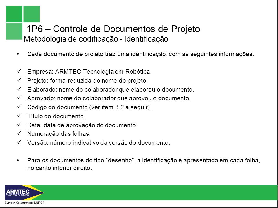 I1P6 – Controle de Documentos de Projeto