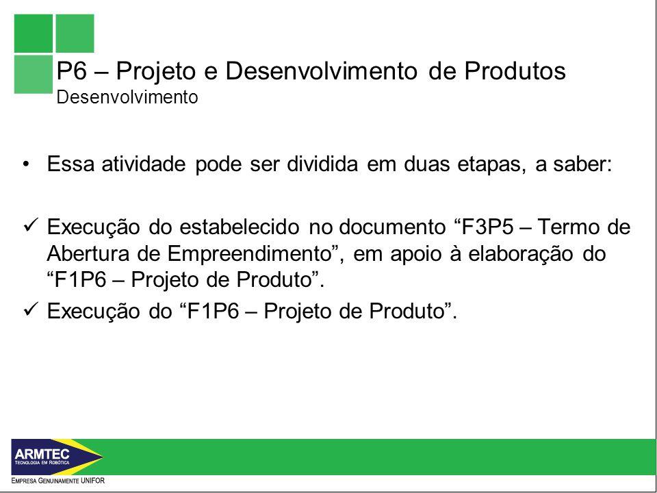 P6 – Projeto e Desenvolvimento de Produtos Desenvolvimento