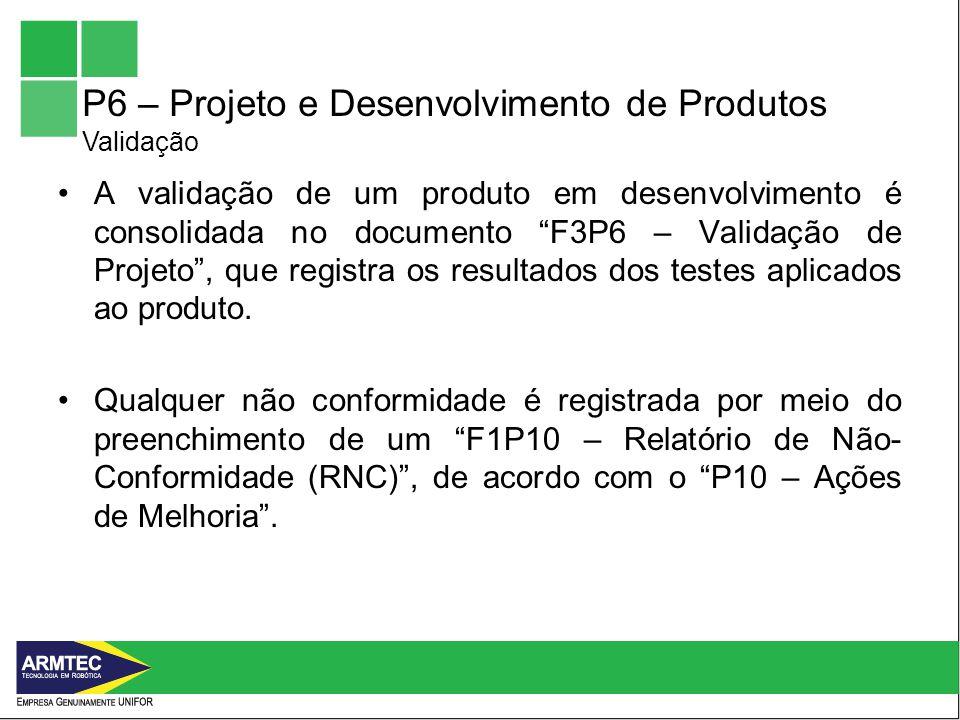 P6 – Projeto e Desenvolvimento de Produtos Validação
