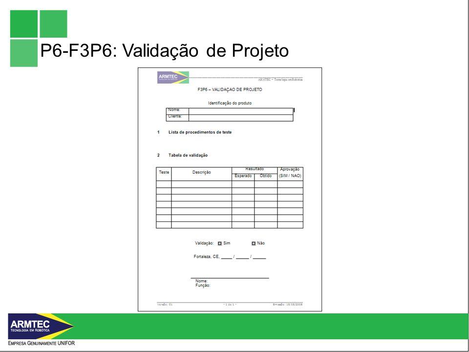 P6-F3P6: Validação de Projeto