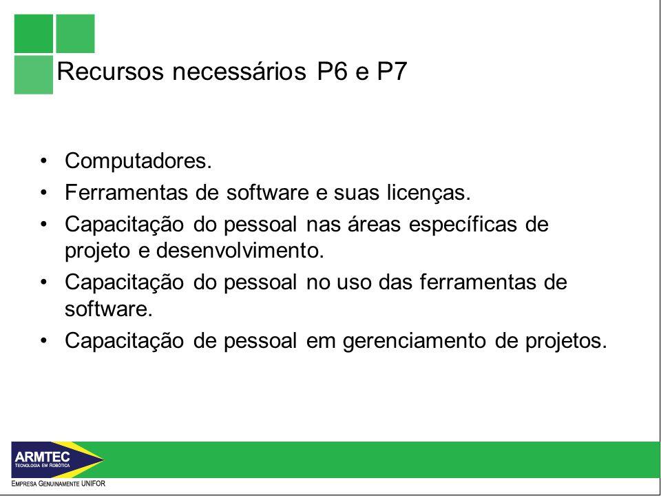 Recursos necessários P6 e P7