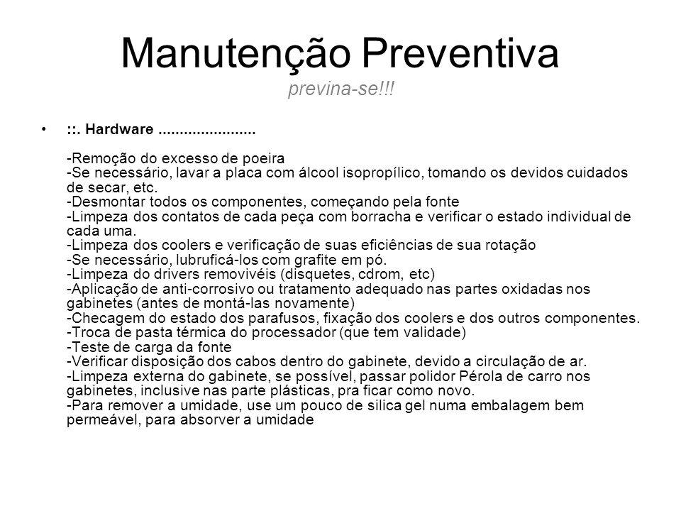 Manutenção Preventiva previna-se!!!