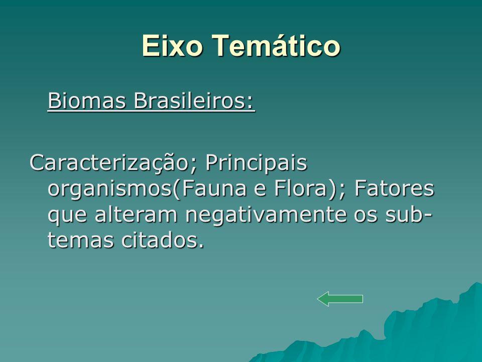 Eixo Temático Biomas Brasileiros: