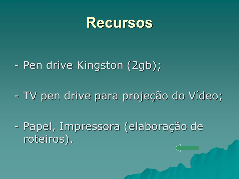 Recursos - Pen drive Kingston (2gb);