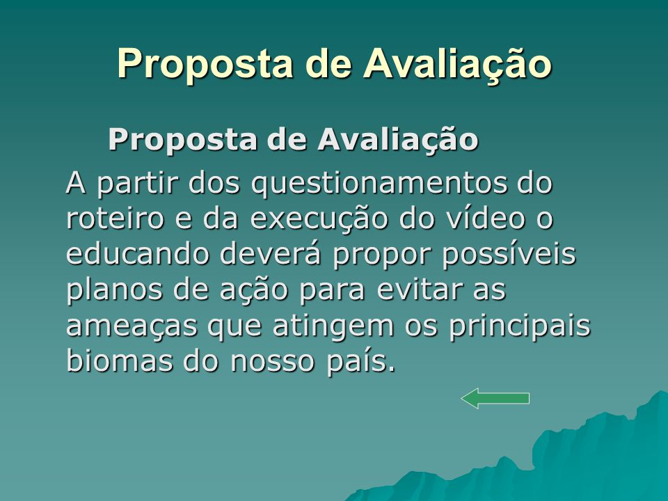 Proposta de Avaliação Proposta de Avaliação