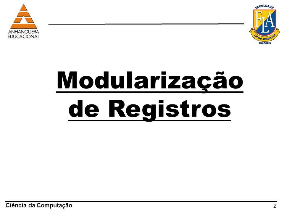 Modularização de Registros