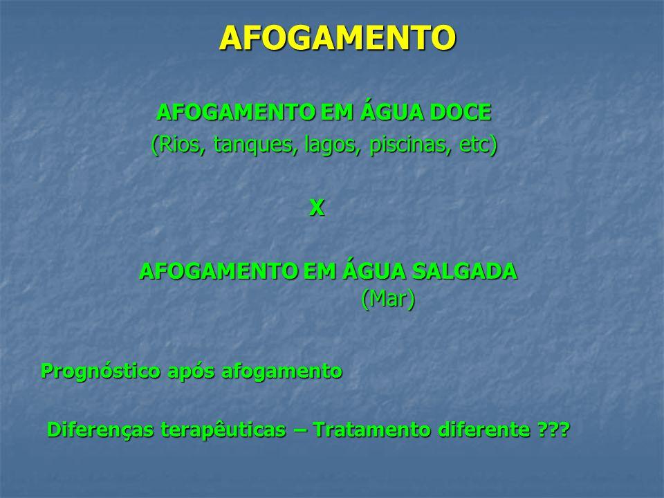 AFOGAMENTO EM ÁGUA DOCE