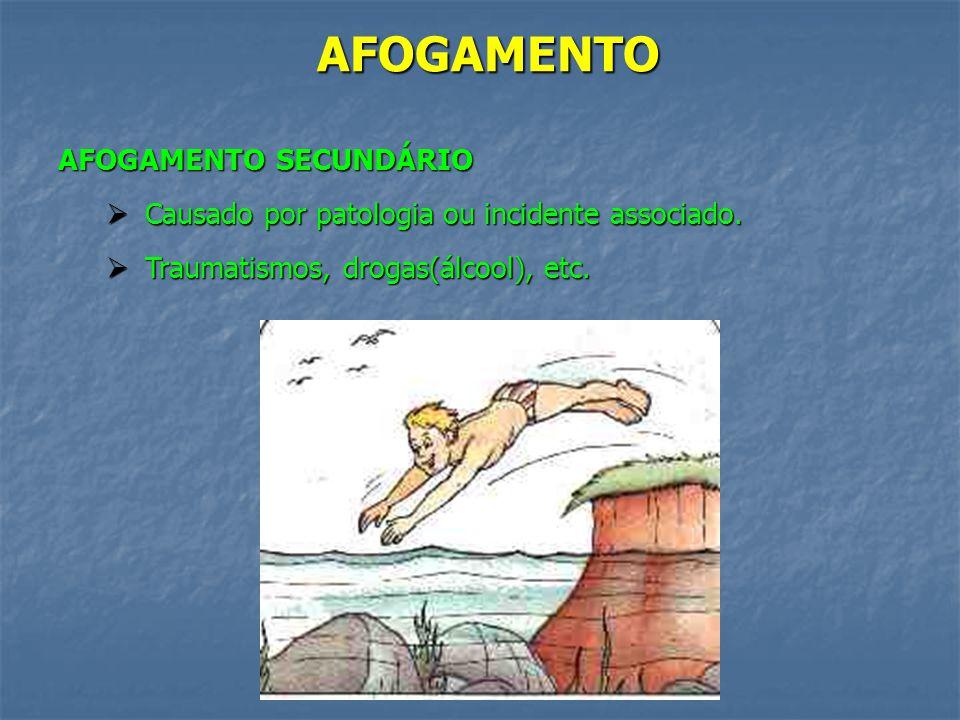 AFOGAMENTO AFOGAMENTO SECUNDÁRIO