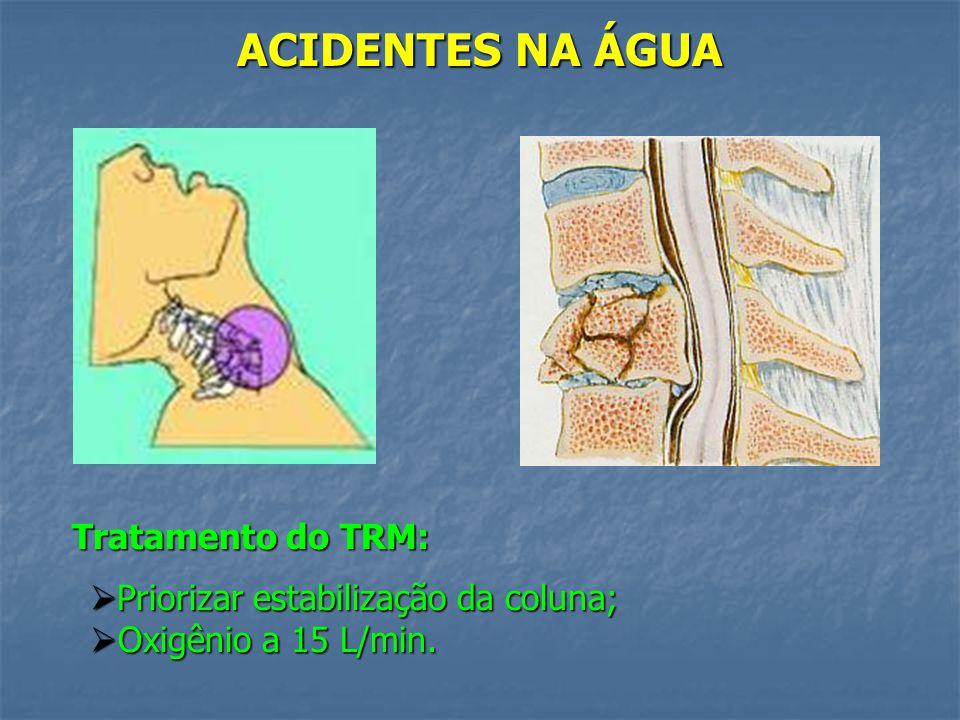 ACIDENTES NA ÁGUA Tratamento do TRM: