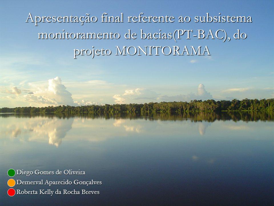 Apresentação final referente ao subsistema monitoramento de bacias(PT-BAC), do projeto MONITORAMA