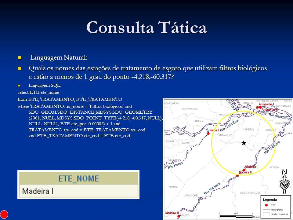 Consulta Tática Linguagem Natural: