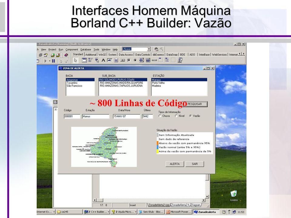 Interfaces Homem Máquina Borland C++ Builder: Vazão
