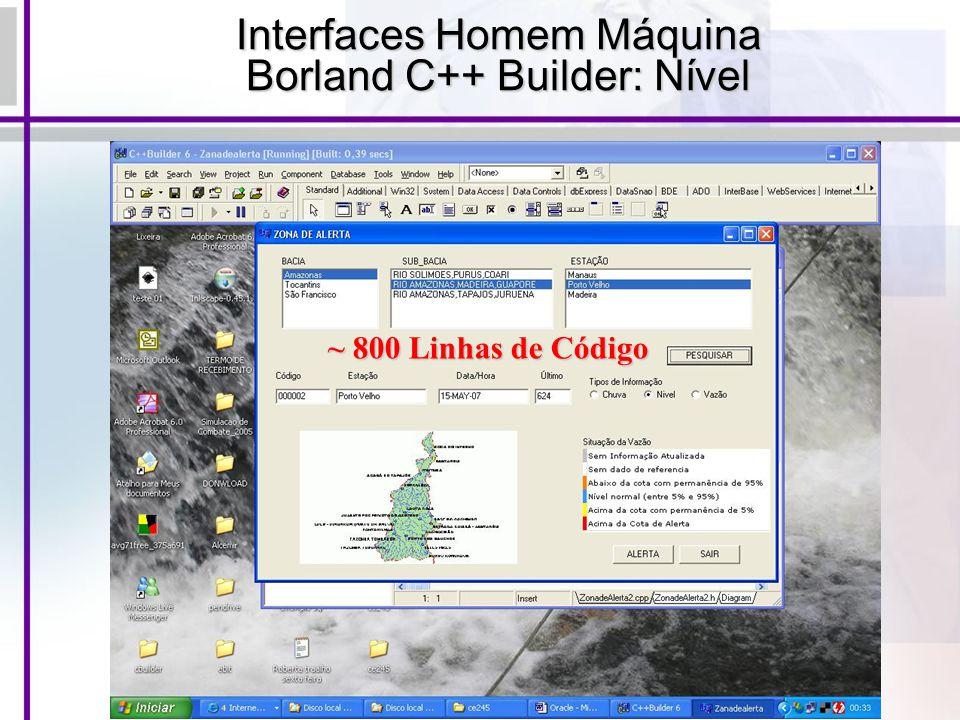 Interfaces Homem Máquina Borland C++ Builder: Nível