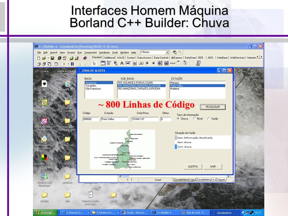 Interfaces Homem Máquina Borland C++ Builder: Chuva