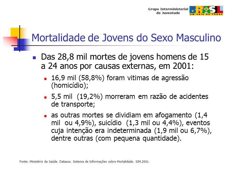 Mortalidade de Jovens do Sexo Masculino
