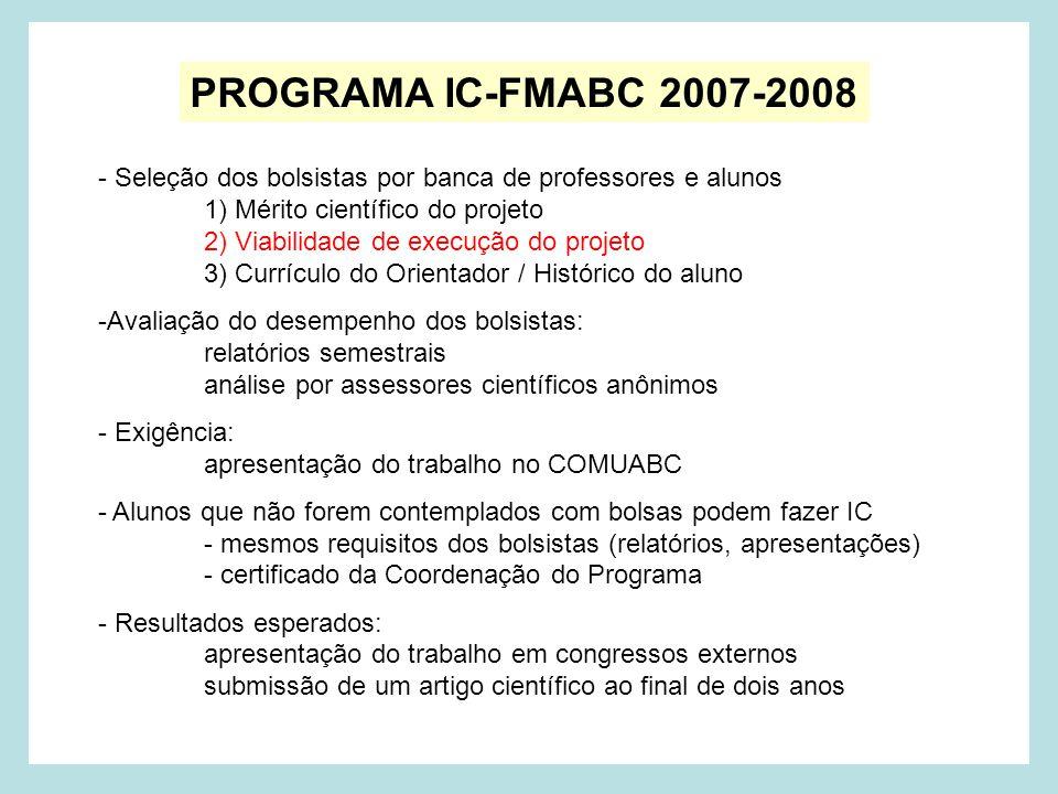 PROGRAMA IC-FMABC 2007-2008