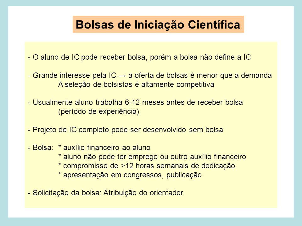 Bolsas de Iniciação Científica
