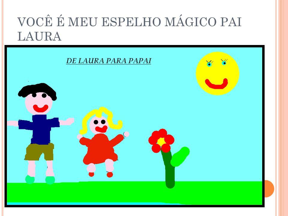 VOCÊ É MEU ESPELHO MÁGICO PAI LAURA
