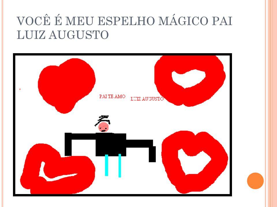 VOCÊ É MEU ESPELHO MÁGICO PAI LUIZ AUGUSTO