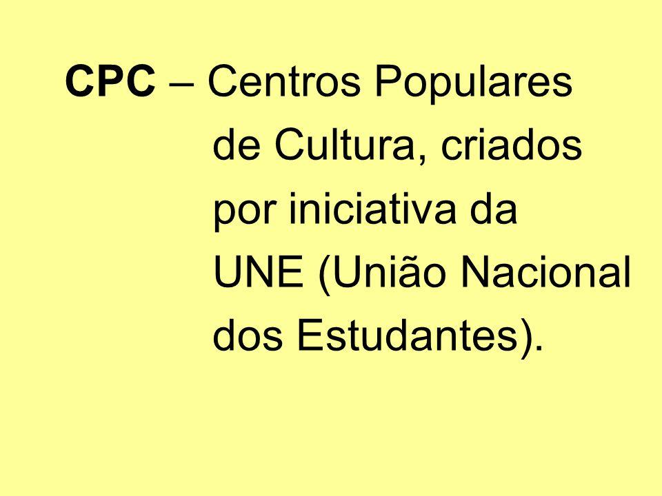 de Cultura, criados por iniciativa da UNE (União Nacional
