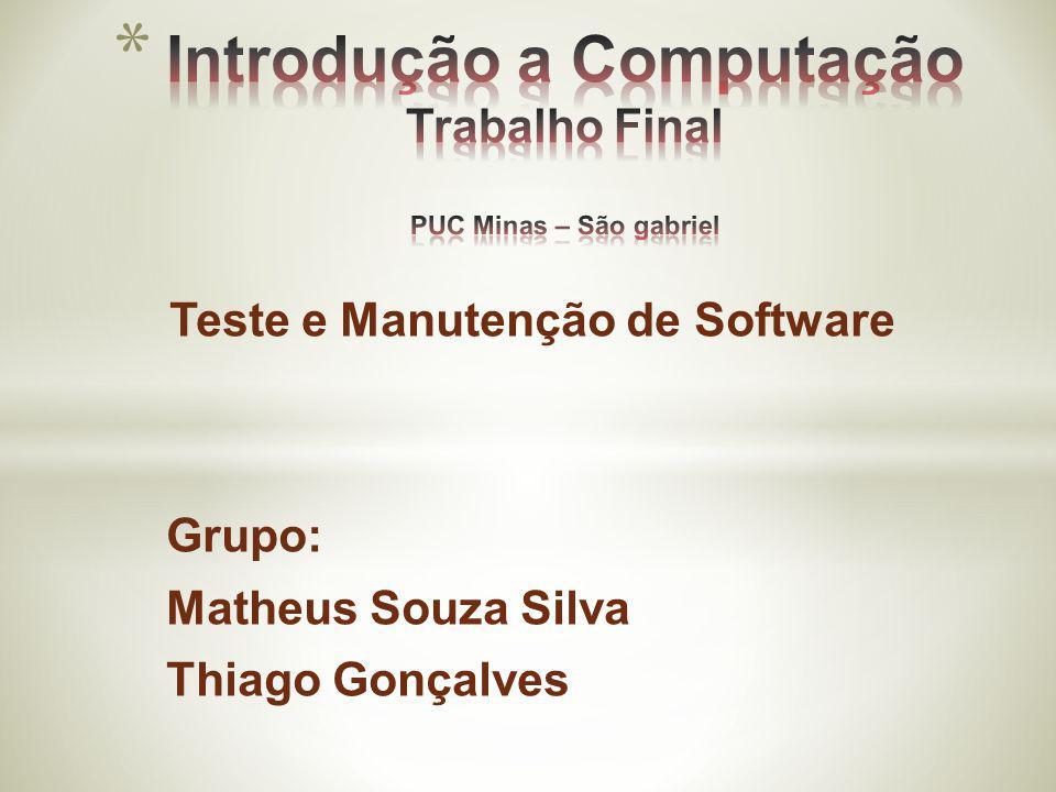 Introdução a Computação Trabalho Final PUC Minas – São gabriel