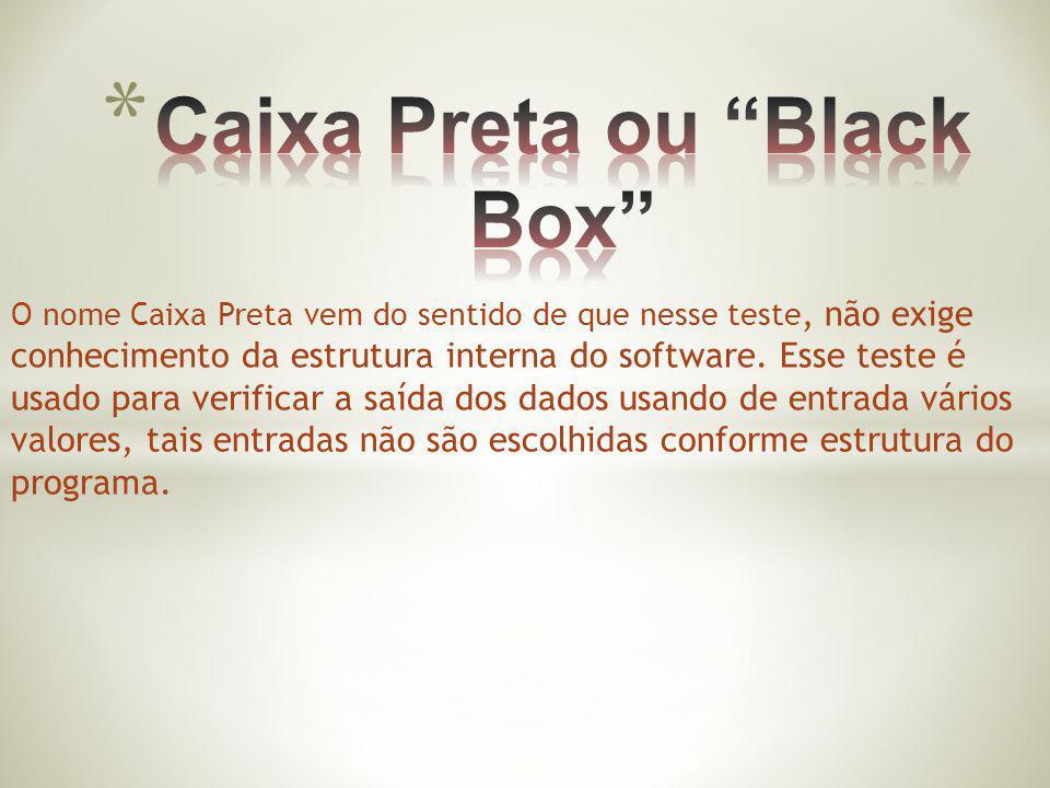 Caixa Preta ou Black Box