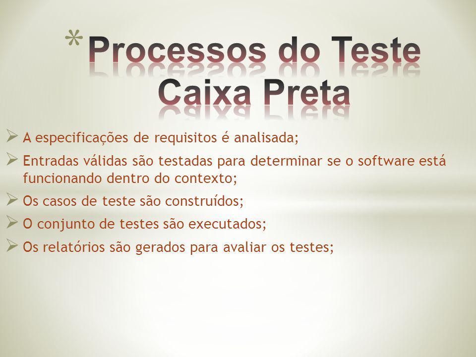 Processos do Teste Caixa Preta