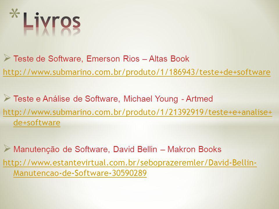 Livros Teste de Software, Emerson Rios – Altas Book
