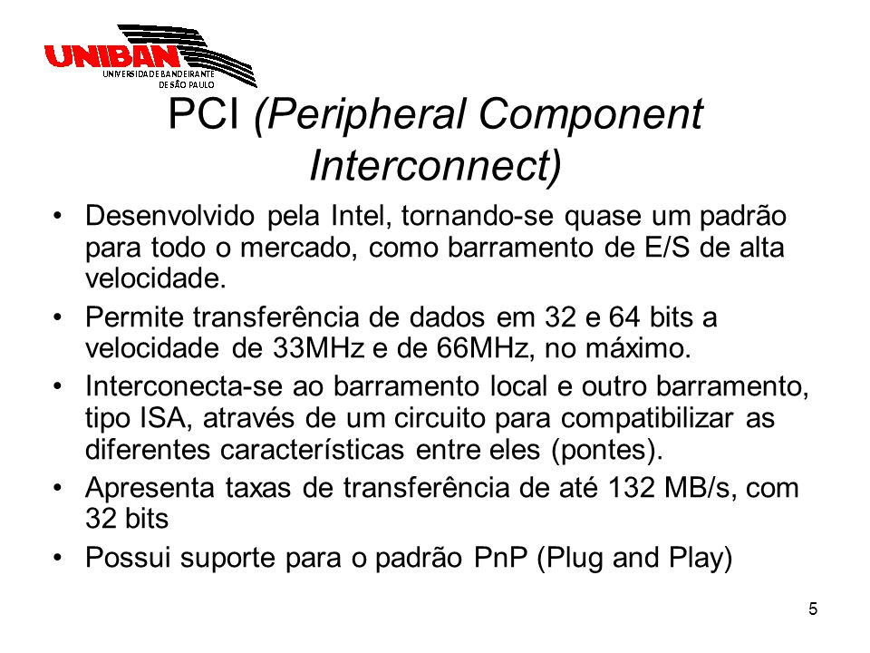 PCI (Peripheral Component Interconnect)