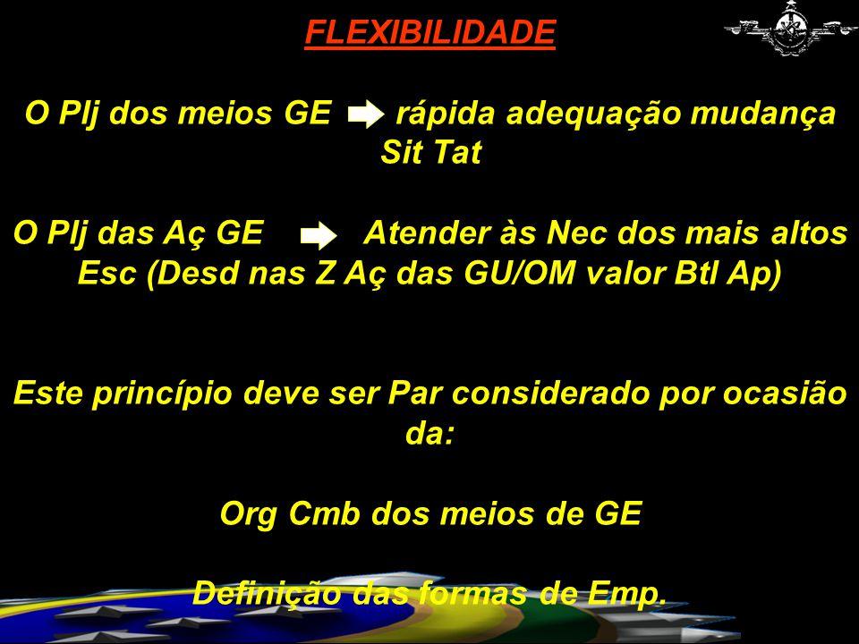 Org Cmb dos meios de GE Definição das formas de Emp.