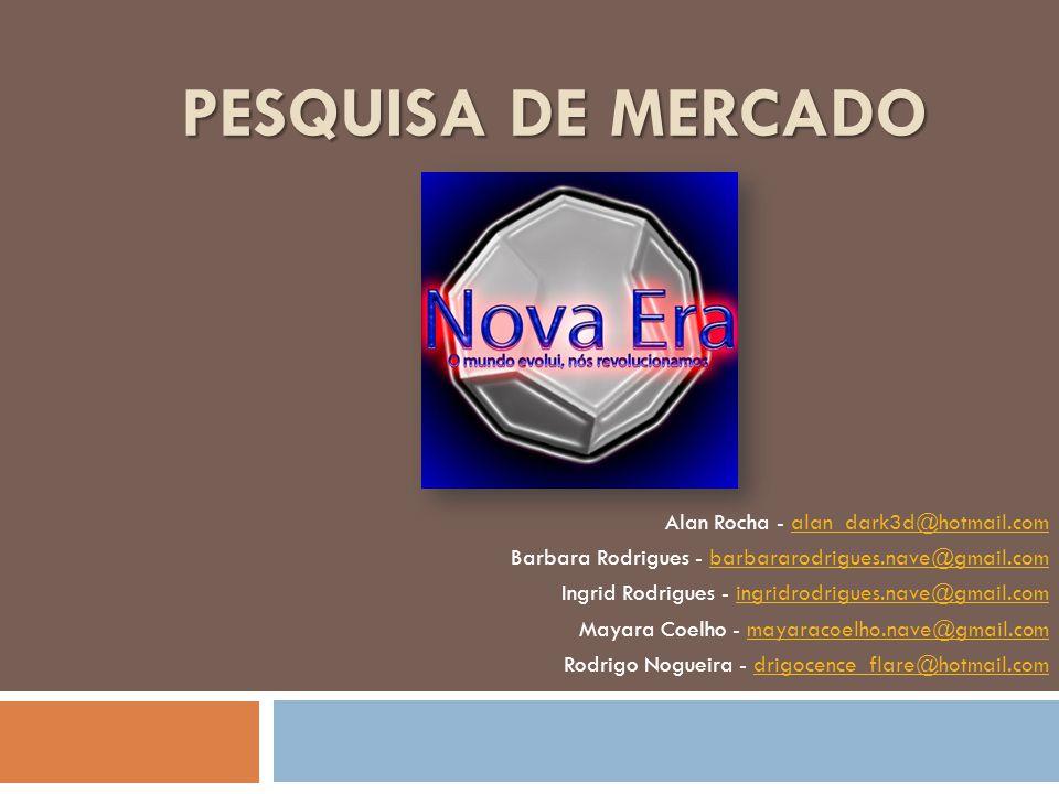 Pesquisa de Mercado Alan Rocha - alan_dark3d@hotmail.com