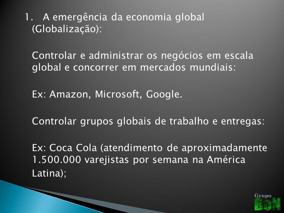 1. A emergência da economia global (Globalização):