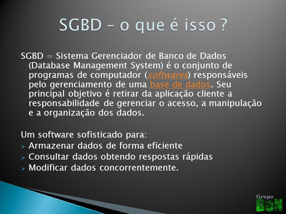 SGBD – o que é isso